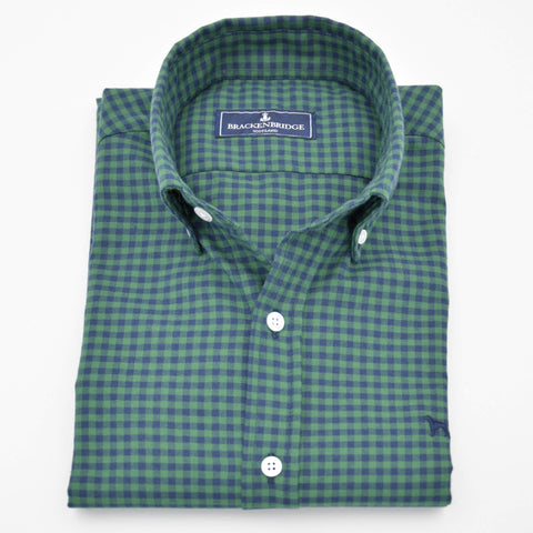 Camisa Gingham blue green