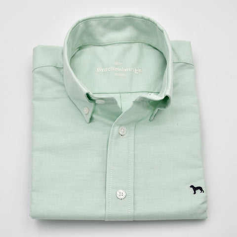 Camisa Oxford lisa verde