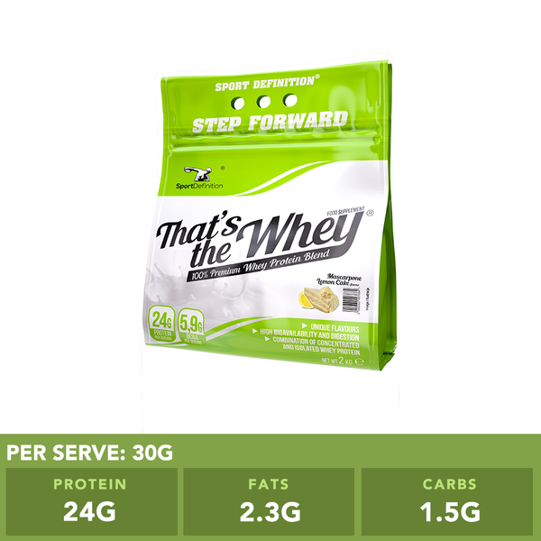 Sport Definition That's The Whey Mascaporne Lemon Cake 2kg