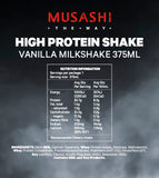 Musashi High Protein Shake Vanilla 375ml (Box of 6)