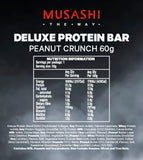 Musashi Deluxe Protein Bar Peanut Crunch 60g (Box of 12)