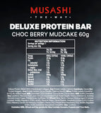 Musashi Deluxe Protein Bar Choc Berry Mudcake 60g (Box of 12)