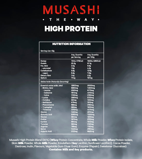 Musashi High Protein Powder Vanilla 900g