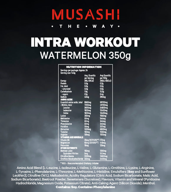 Musashi Intra-Workout Watermelon 350g
