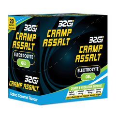 32GI Cramp Assalt Sachets Salted Caramel 10g (Box of 20)