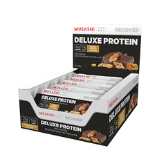 Musashi Deluxe Protein Bar Peanut Crunch 60g (Box of 12) (Expire on 22 Aug 2020)