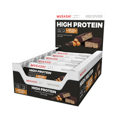 Musashi High Protein Bar Dark Chocolate Salted Caramel 90g (Box of 12) (Expire on 11 Jul 2020)