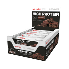 Musashi High Protein Bar Milk Chocolate Brownie 90g (Box of 12) (Expire on 19 Jun 2020)