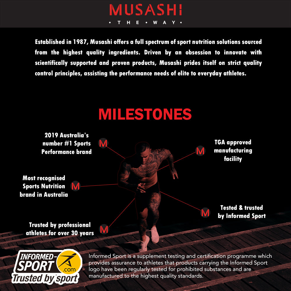 Musashi 100% Whey Powder Chocolate 900g