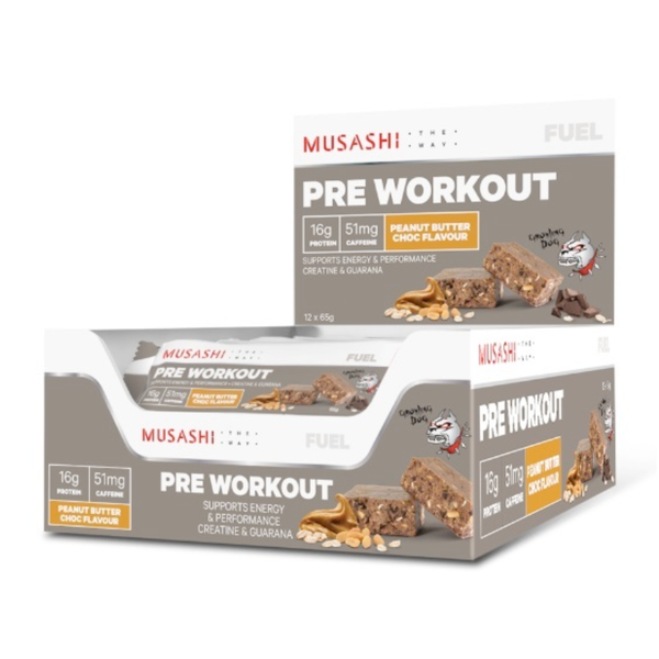 Musashi Pre-Workout Bar 65g (Box of 12)