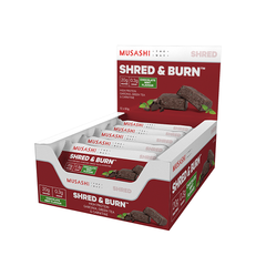 Musashi Shred & Burn Bar Chocolate Mint 60g (Box of 12) (Expire on 24 Jul 2020)