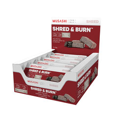 Musashi Shred & Burn Bar Cookies and Cream 60g (Box of 12) (Expire on 25 Jul 2020)