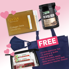 Spoil Mum Kit - Glowing Skin (X50 MCT Oil and Collagen Coffee Original + Qyra Collagen Drink + FREE gifts)