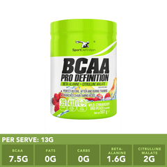 BCAA PRODEFINITION Wild Strawberry with Peach (4:1:1 with BETA ALANINE)