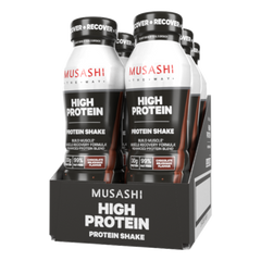 Musashi High Protein Shake Chocolate 375ml (Box of 6)