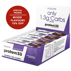 Protein 33 Low Carb Bars (12x60g) Mixed Flavours