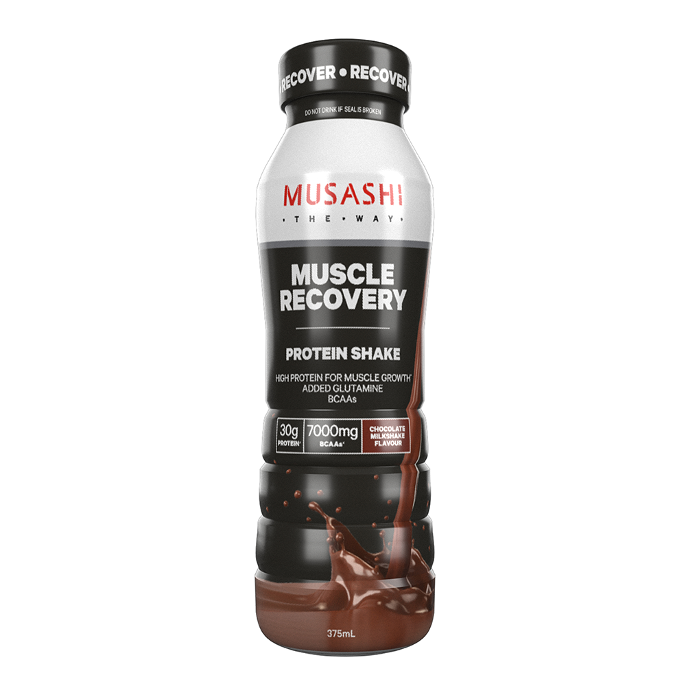 Musashi Muscle Recovery Shake Chocolate 375ml (Box of 6)