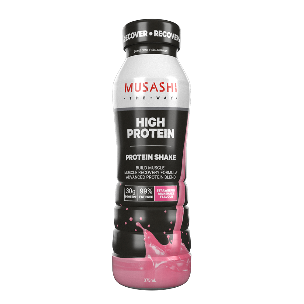 Musashi High Protein Shake Strawberry 375ml (Box of 6)