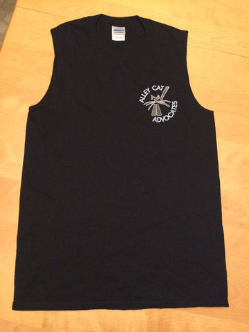 Alley Cat Advocates Logo Gildan Ladies Sleeveless Tank Top / T-Shirt