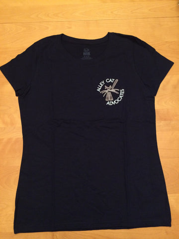 Alley Cat Advocates Logo Fruit of the Loom Heavy HD Ladies T-Shirt