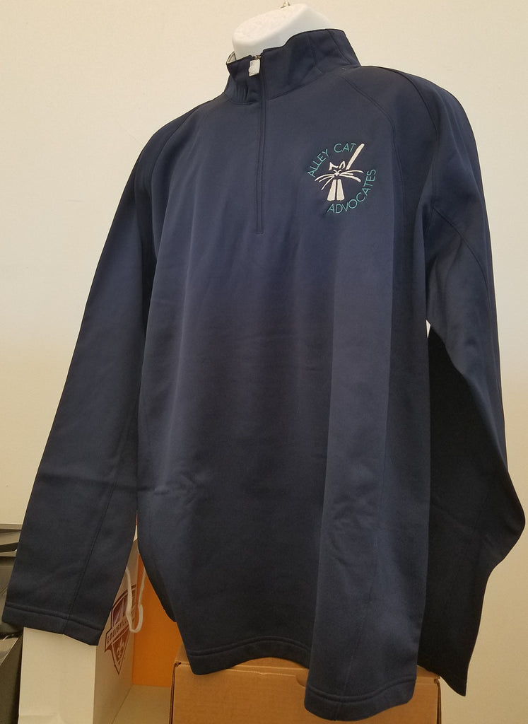 Alley Cat Advocates Embroidered Logo Sport Tek Half Zip Pullover