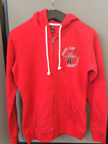 Alley Cat Advocates Logo Zipper Hoodie Jacket District