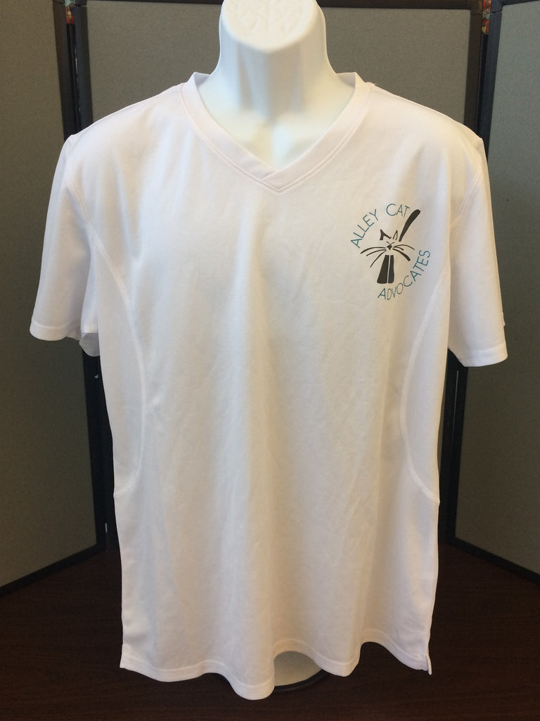 Alley Cat Advocates Logo Ladies V-Neck Sport Shirt from Sport Tek