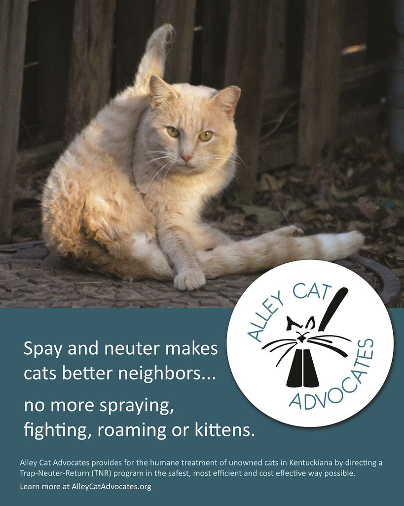 "Alley Cat Advocates 16""x20"" Poster: Spay and neuter makes better neighbors."