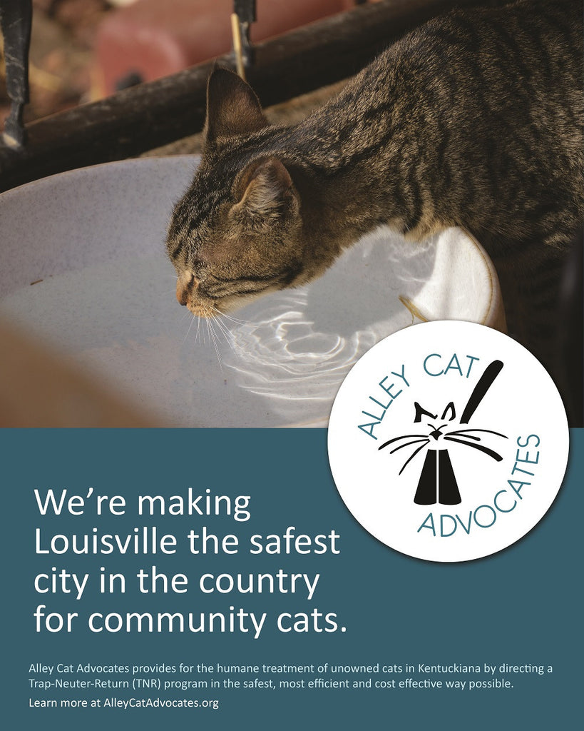 "Alley Cat Advocates 16""x20"" Poster: We're making Louisville the safest city in the country for community cats."