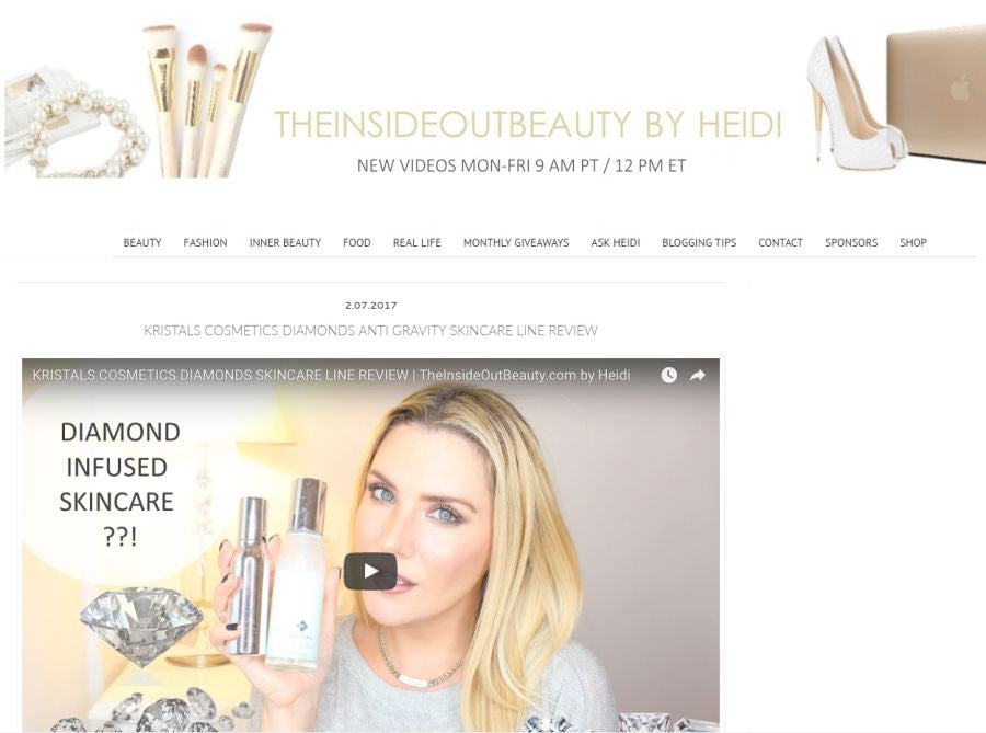 Kristals Cosmetics Diamonds Line Review from TheInsideOutBeauty