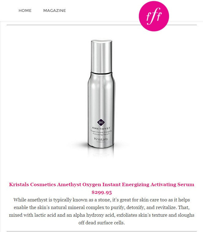 Kristals Cosmetics Amethyst Serum featured in FabFitFun