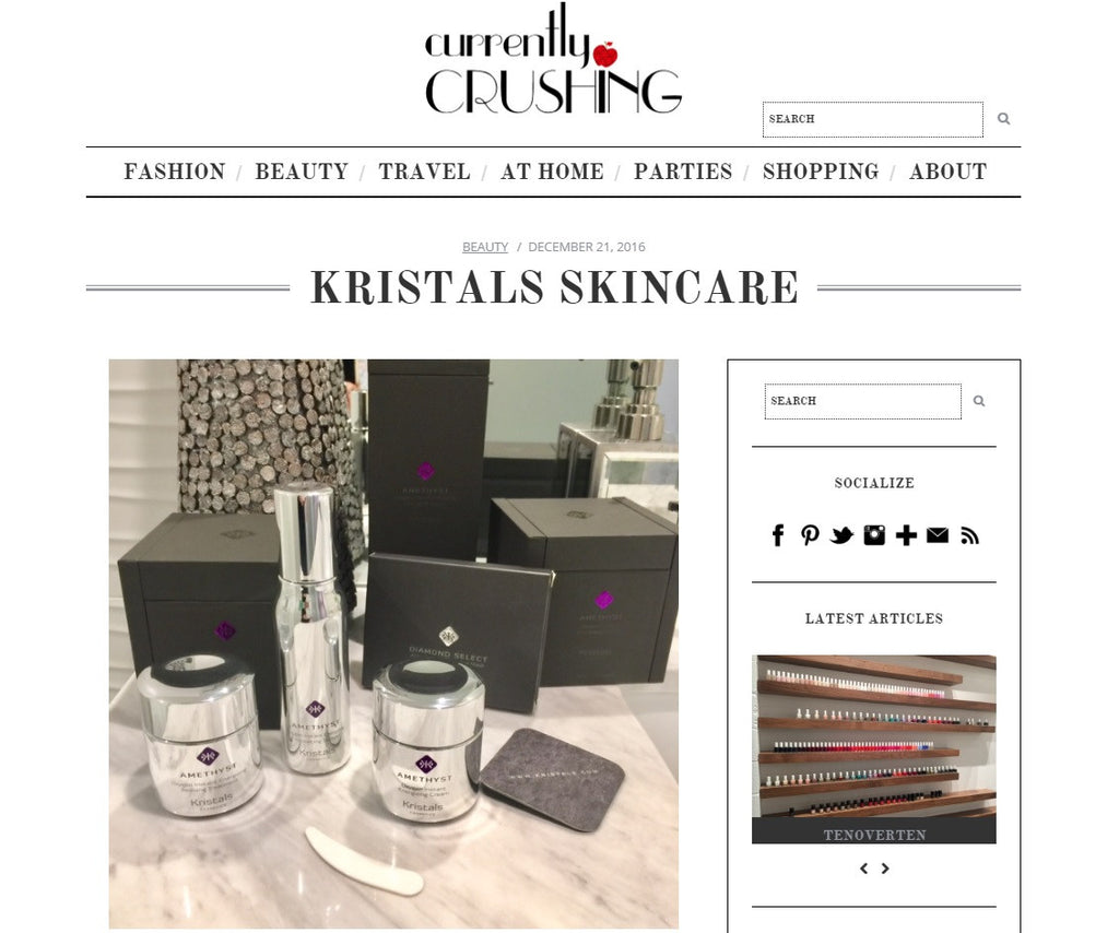 Kristals Cosmetics Featured in Currently Crushing