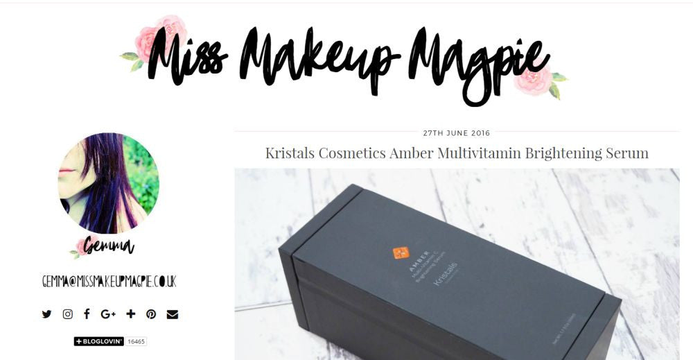 Miss Makeup Magpie Reviews Kristals Cosmetics Amber Serum