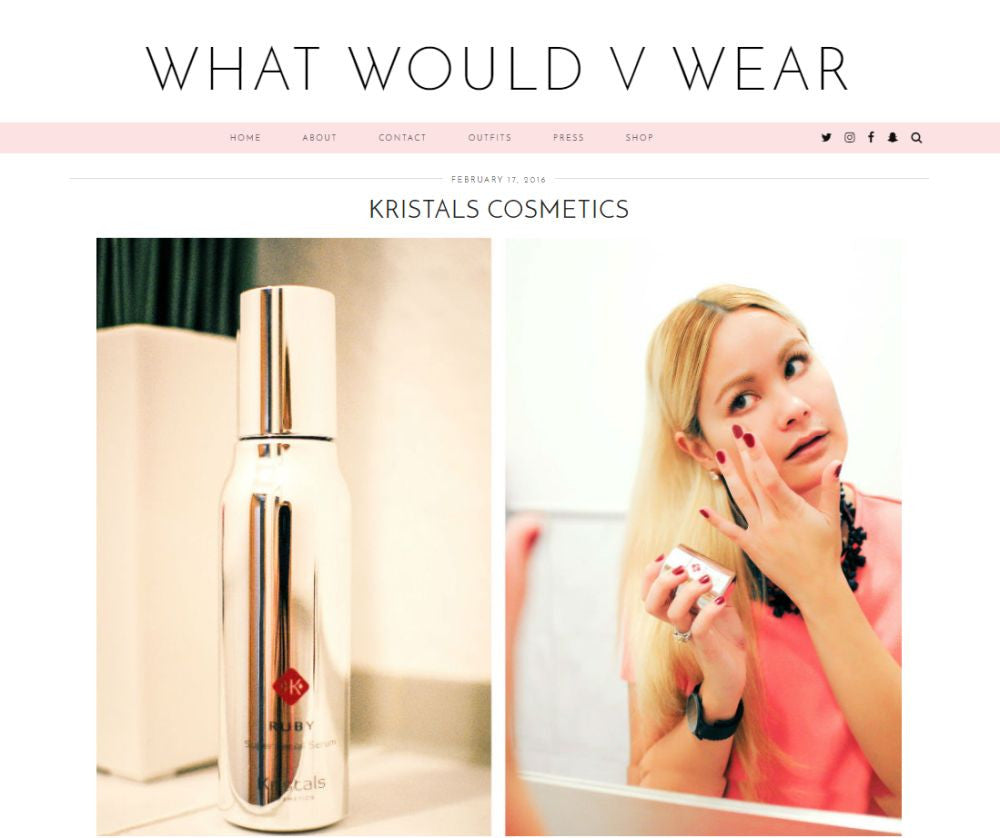 What Would V Wear Reviews Kristals Cosmetics