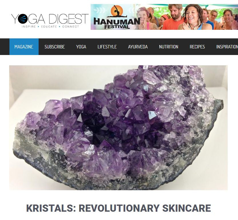 Yoga Digest Reviews Kristals Amethyst Line