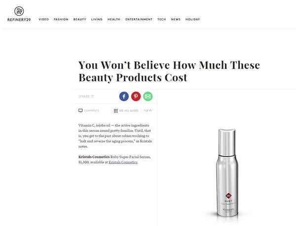 Refinery29 - Kristals Cosmetics Ruby Serum