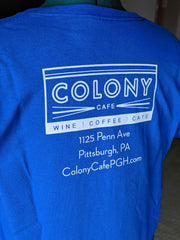 "Blue ""Caturday"" Colony T-Shirt"