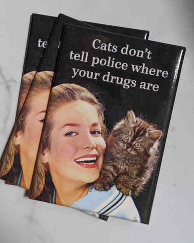 Cats Don't Tell Police Magnet