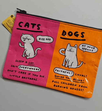 Cats & Dogs Zip Pouch