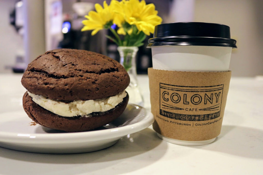 Colony whoopie pie and coffee