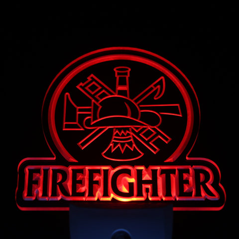 Firefighter LED Neon Night Light