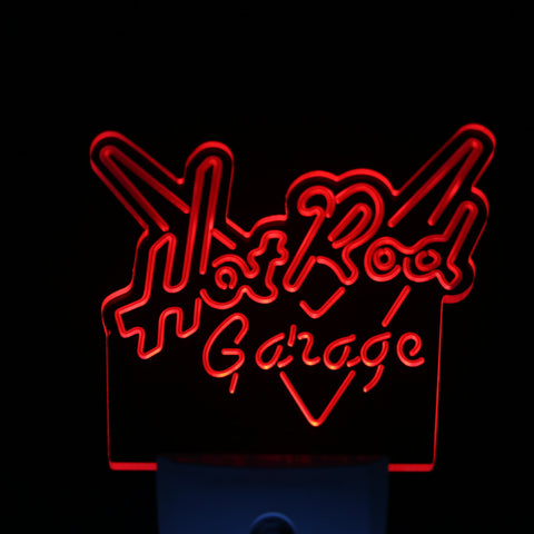 Hot Rod Garage Day/ Night Sensor Led Night Light