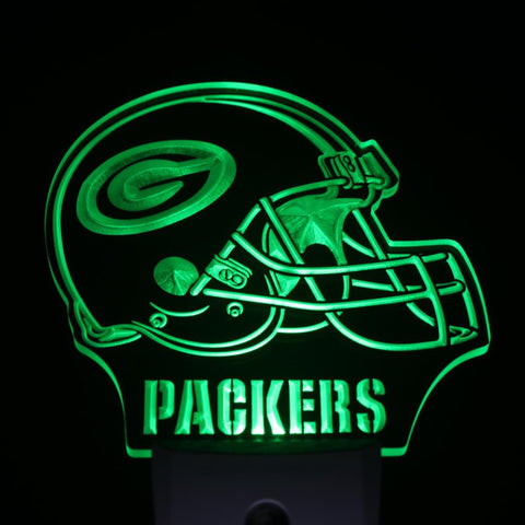 Green Bay Packers Helmet LED Neon Night Light