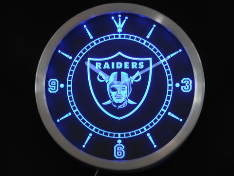 Oakland Raiders LED Neon Wall Clock