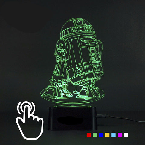 3D Night Light Star Wars R2D2 Robot - 7 Colors