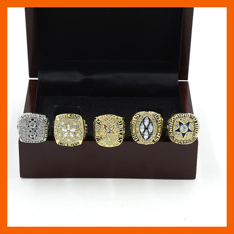 1971/1977/1992/1993/1995 Dallas Cowboys Super Bowl Replica Rings Set