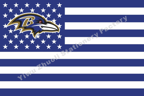 Baltimore Ravens USA Star Stripe Flag 3 X 5 FT