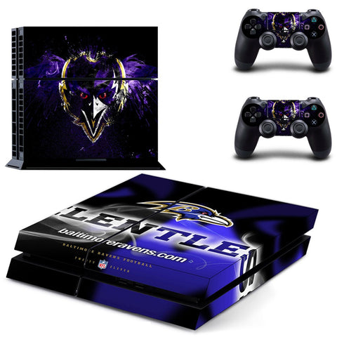 Baltimore Ravens Decal Skin Stickers For Sony Playstation 4