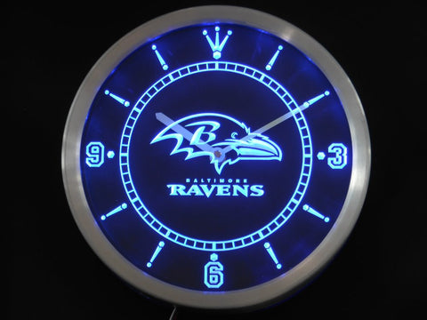 Baltimore Ravens LED Neon Wall Clock