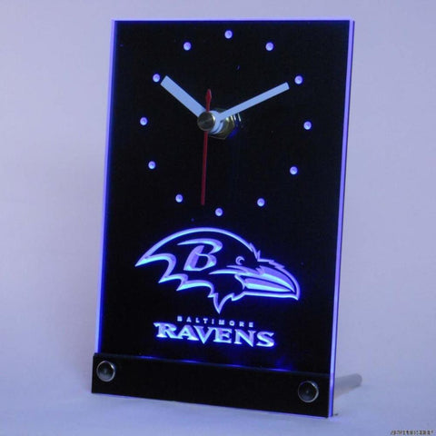 Baltimore Ravens 3D LED Table Clock